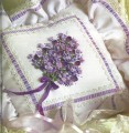 Lace and Lilac Cushion