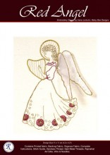 Red Goldwork Angel