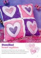 Stenciled Heart Cushion