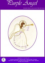 Purple Goldwork Angel - gorgeous for Christmas or any time of year that you would like an Angel! Designed by Irene Junkuhn, Betsy Bee, Distributed by Rajmahal.