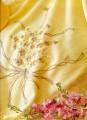 Cream & Gold Wool Cushion