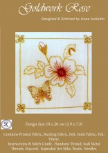 Goldwork Rose is a simple design for people very new to stitching and goldwork. A fast bloomer!