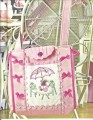 Pretty decorated bag in Rajmahal Art SIlks and sweet notions