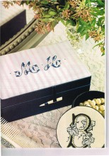 Taetia has excelled herself once again with these beautiful monogrammed boxes using our lovely satin covered boxes.