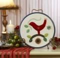 Festive Red Bird. A simple fun design.